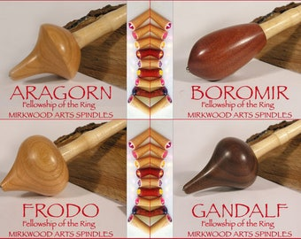 Circle  of 4 Fellows (Fellowship of the Ring Supported Spindles for Collectors) - Made to Order