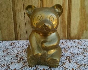 Brass Panda Bear Figurine