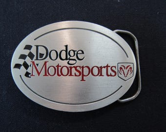 Vintage Belt Buckle - Dodge Motorsports Pure Pewter Belt Buckle - Great American