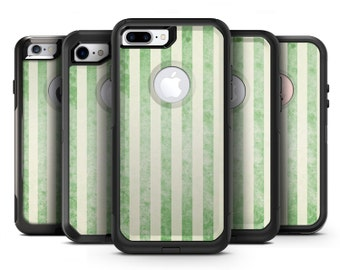 Faded Green Vertical Stripes - OtterBox Case Skin-Kit for the iPhone, Galaxy & More