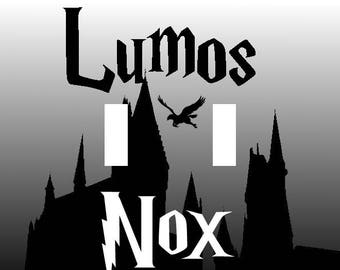 Harry Potter Lumos Nox Double Light Switch Plate Cover