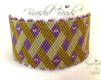 "Beading Kit: ""Braided Beads"" Bracelet in English-Beads Only! D.I.Y."