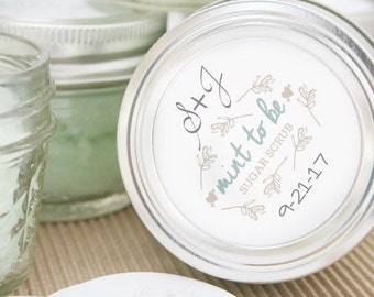 12 Mint to be Sugar scrub wedding favors