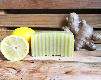 Ginger Soap - Homemade Soap - Organic Homemade Soaps - Organic Homemade Hemp Soap - Homemade Ginger Soap - Ginger Lemon Hemp Soap