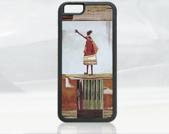 Africa iPhone 6, 6s case, ethnic iPhone 6, 6s cover, unique design, african woman, folk art