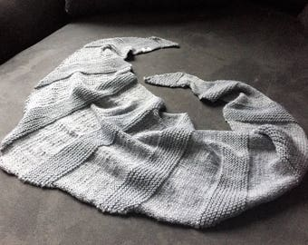 Striped Gray Cotton Shawl