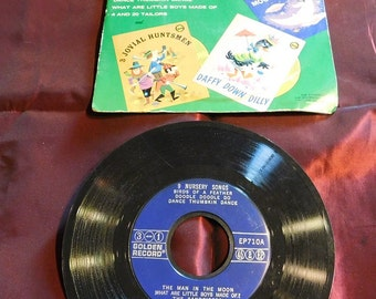 Vintage Little Golden Records 9 Nursery Songs 45RPM