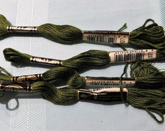 4 Skeins DMC #937 Embroidery Floss Made in France