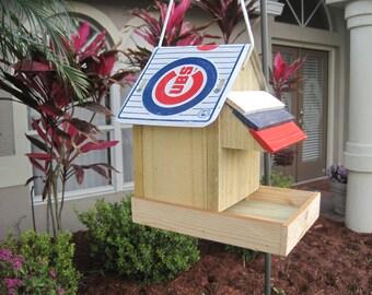 Chicago Cubs Baseball Bird Feeder