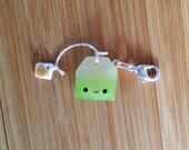 Green Tea  - Stitch Marker or Progress Keeper Charm