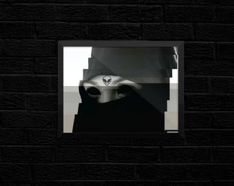Glitchab- Framed Print