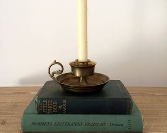 Vintage 3 Ring Brass Taper Candleholder