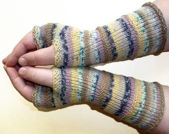 Knit Fingerless gloves   Arm warmers   Womens Fingerless   Long Fingerless Mittens   Wrist warmers   Boho Gloves   Hand Warmers