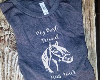 Horse Shirt - Horse Best Friend - Girl Horse Shirt - Farm Girl - Farmers Daughter - Farm Wife - Rodeo Shirt - Rodeo Mom - Barrel Racing