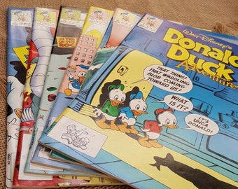 DONALD DUCK ADVENTURES - Six Issues 7 11 13 14 16 30 - comics of the early 1990s featuring Donald Duck, Huey, Dewey, Louie