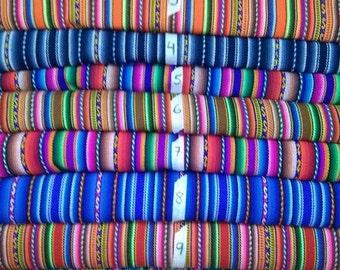 5 metres Stripy Peruvian Fabric (shipped from Peru)