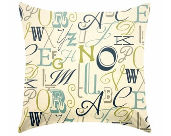 Pillow covers,  blue pillows , blue and navy pillows , green pillow , navy blue cushions , blue and green pillow covers