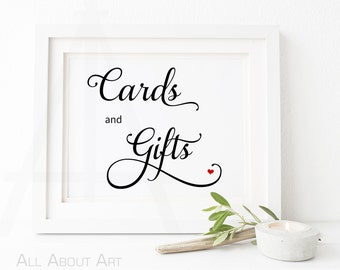 Cards and gifts sign - Instant Download - Digital File - Wedding Download Printable - Wedding DIY - Table signs - Reception Wedding Decor