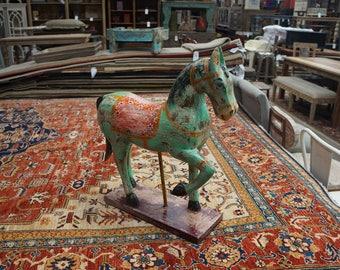 Solid Wood Decorative Horse
