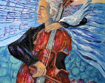 "Fine Art Print ""The Cellist""  by Napolske Artist"