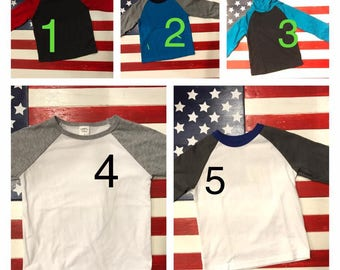 3T Brand New Blank Raglans