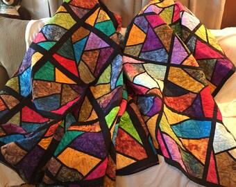 Batik Stain Glass Quilts