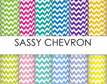 """Patterned Craft Vinyl - Sassy Chevron 12x12"""" Individual Sheet - You Choose Your Color!"""