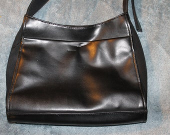 Vintage Nine West Purse, Handbag, Bag, Black, Adjustable Long Strap, Authentic, Very Nice For Everyday Use, Medium Size Bag, Great Shape