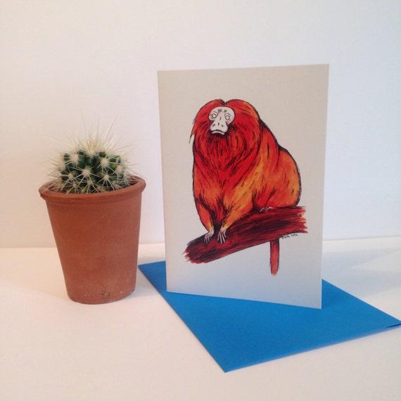 Golden Tamarin Card
