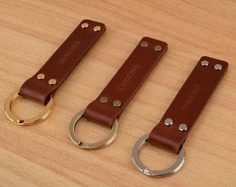 Leather Keychain Key ring fob lanyard