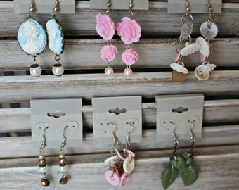 Handmade earrings! Earring lot.