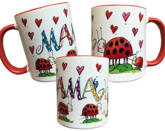 Mama Cup, mother's day gift, red, RosiRosinchen