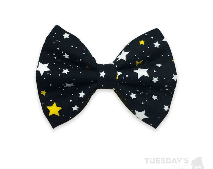 Twinkle Twinkle | Dog Bow Tie | Star Bow Tie | Night Bow Tie | Bow Ties for Dogs | Pet Accessories