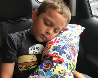 Monster Trucks seat belt pillow