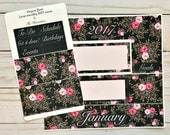 Elegant Dark monthly view sticker kit *High-quality Glossy / Matte * fits Recollections Large Spiral Horizontal Planner * choose your month