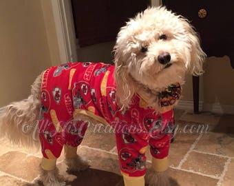 Dog Pajamas, Fleece Dog Pajamas, Dog Fleece Sports Pajamas, Dog Pajamas Football, Basketball, Baseball Pajamas, Custom Dog Pajamas