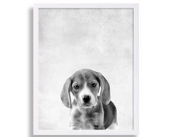Jack Russel Print Dog Portrait Puppy Print Dog Art Pet Art Nursery Art Nursery Decor Nursery Print Baby Animal Decor Modern Art