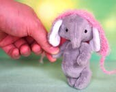 Artist Elephant, OOAK Blythe friend, teddy bear friend, miniature animals, miniature teddy bear, ooak teddy bear, gift for her