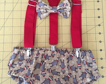 First Birthday Sock Monkey Party, diaper cover, suspenders and bow tie or neck tie, smash cake, photo shoot outfit