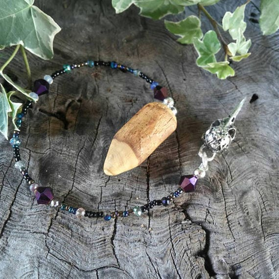 Mother Crone Magnolia Dowsing Pendulum, Divination Pendulum, Dowsing Pendulum, Magnolia, Dowsing, Pendulum, Traditional Witchcraft