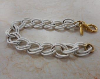 Vintage Vendome White Chain Bracelet 7 inch