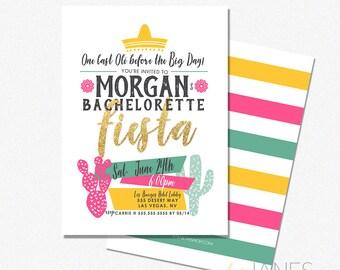 "Fiesta Bachelorette Invitation | Fiesta Bachelorette Printable | Girls Night Fiesta | Fiesta Party Printable - 5X7 with *bonus reverse side"""