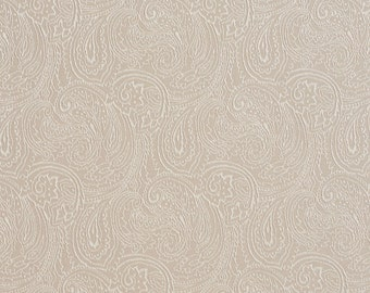 Beige Traditional Paisley Jacquard Woven Upholstery Fabric By The Yard | Pattern # B632