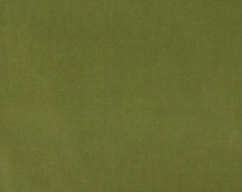Green Authentic Cotton Velvet Upholstery Fabric By The Yard | Pattern # A0000R