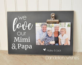 Personalized Gift For Grandparents, Grandchildren Photo Frame  {We Love Our Mimi & Papa}  PERSONALIZED Picture Frame, Mother's Day Gift