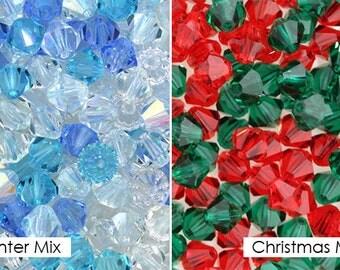 288 Pcs- Preciosa Crystal Bicone Beads 6MM Mixes - YOU CHOOSE!