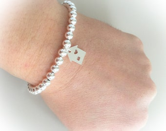 925 Sterling Silver house Bracelet