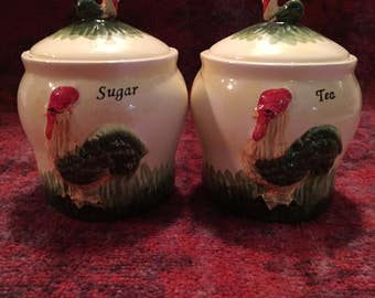 Old fashioned sugar and tea canister