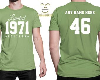 1971 Limited Edition 46th Birthday Party Shirt, 46 years old shirt, limited edition 46 years old, 46th birthday party tee shirt