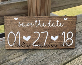 Save the date sign/ engagement photo prop/ engagement pictures/ engagement sign